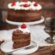 Ciasto czekoladowe (tort) z whisky