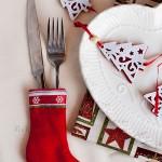 Mini skarpertki świąteczne – etui na sztućce