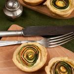 Mini tarty z cukinią i marchewką