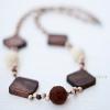 Korale czekoladowo - śmietankowe