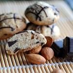 Kruche ciasteczka migdałowo – czekoladowe