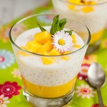 Deser z tapioki i mango