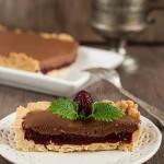 Tarta malinowa z musem czekoladowym